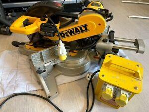 Dewalt DW718V-Lx Sliding Mitre Saw 110V with transformer