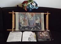 Dimensions Cluny Tapestry Lady & the Unicorn Sense of Sound Needlepoint Kit 2107
