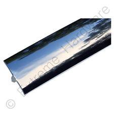 """12 ft (approx. 3.66 m) 3/4"""" 18 Mm Cromo ajuste del borde de plástico moldeado de T para gabinete de máquina de arcade"""