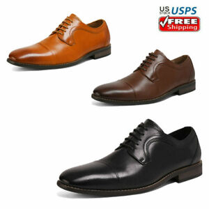 Mens Dress Shoes Lace up Genuine Leather Oxford Shoes Classic Casual Shoes