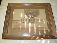 Gladys Morgan Pencil Signed Framed Picture Acadian Burke's Centenary Louisiana