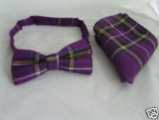 TOP Deal>TARTAN Purple Bow tie and Hankie Set>* Many More Patterns in our SHOP *