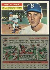 (16477) 1956 Topps 270 Billy Loes Dodgers O/C-EM