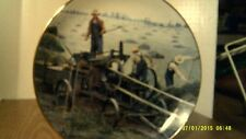 Vtg 1990 Farming The Heartland Plate-Baling Hay-Emmett Kaye-No Box-Free Shipping