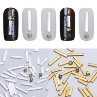 3D Rivets Rhinestone Gold Silver Metal Rectangle Alloy Studs Nail Art Decoration