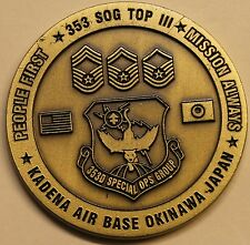 353rd Special Operations Group Kadena Japan Top III Air Force Challenge Coin
