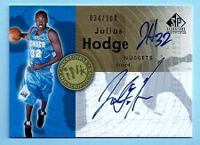 JULIUS HODGE 2005.06 SP SIGNATURE INKREDIBLE INSCRIPTIONS AUTOGRAPH AUTO /100