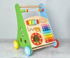 Lauflernwagen Baby Walker Gehfrei Lauflernhilfe Steckspiel Holz