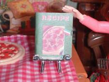 Barbie Italian Recipe Book Pizza Front Lot fits Fisher Price Loving Family Dolls