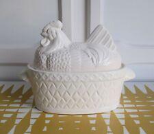 More details for vintage white chicken shaped egg holder - storage retro kitchen