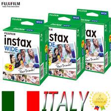 60*Fuji Instax Wide Pellicola Film per Fujifilm Istantanea WIDE 300 210 200 100