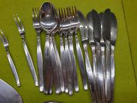 Besteck BSF Silberrose 90 er Silberauflage 6 Personen 28 teilig Silber