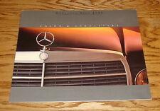 Original 1985 Mercedes Benz Color & Upholstery Foldout Sales Brochure 85