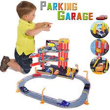 KIDS 2 LEVEL 6 CARS GARAGE PLAY SET TOY AUTO DRIVEN CAR PARKING VEHICLES W/LIFT