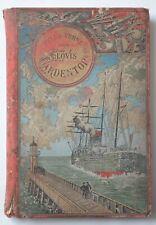 Rare JULES VERNE CLOVIS DARDENTOR EO HETZEL 1896 Cartonnage au Steamer