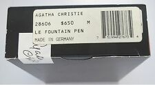 MONTBLANC LIMITED EDITION AGATHA CHRISTIE FOUNTAIN PEN MEDIUM PT NEW BOX SEALED