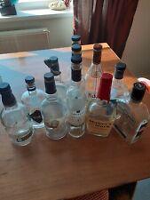 More details for 11 empty spirits bottles makers mark, asbach,janneau,gentleman jack,old forester