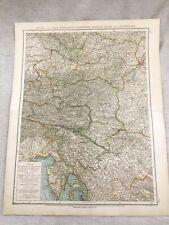 1899 Antique Map of Austria Styria Corinthia Alps Original 19th Century GERMAN