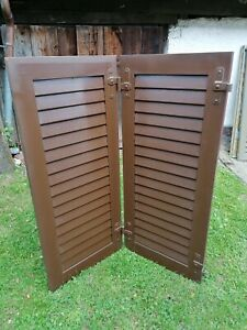 Fensterladen - Holz - gebraucht - Höhe 128 cm - Breite 56 cm