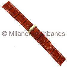Grain Genuine Leather Watch Band 520 530 18mm Speidel Mens Honey Tan Wild Croco