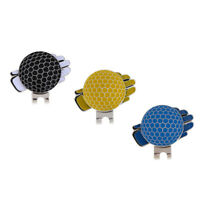 3Pcs Golf Glove Pattern Magnetic Hat Clip & Golf Ball Marker Golf Accessory