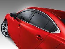 Genuine OEM 2014-2017 Mazda6 Side Window Deflectors (SET OF 4!)