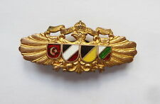 DISTINTIVO KAPPENABZEICHEN 1916 TRIPLE ALLIANCE AUSTRIA GERMANY TURKEY WWI BADGE