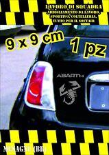 adesivo adesivi abarth stickers tuning scorpione auto fiat 500 moto 9x9 ARGENTO