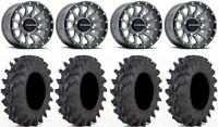 "Raceline Trophy 14"" Grey Wheels 32x9.5 Outback Max Tires Textron Wildcat XX"