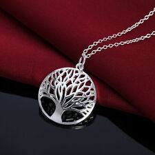 Silver Necklace Jewelry Charm tree of Life women Fashion Cute Pretty charm 925