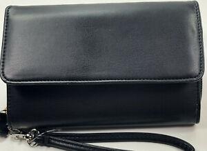 Mundi / My Big Fat Wallet / BLACK SMOOTH Faux Leather/ Safe Keeper NIB / Reg $44