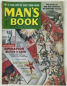 Vintage Man's Book Magazine 1962 March Vol. 1, No. 1 First Edition Pulp Pin Up