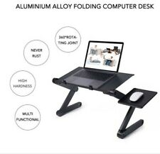 Adjustable Foldable Laptop Desk with integrated USB cooling fan-Free Shipping