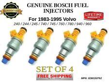 4x Bosch Fuel Injectors for 1983-1995 Volvo 240/244/245/740/745/760/780/940/960