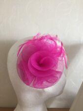 rosa brillante FLOR PEQUEÑO Tocado pasador Boda Mujer Carreras Día
