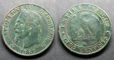 RARE, Napoléon III, 5 centimes 1863 K (Bordeaux)