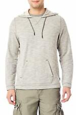 UNIONBAY Men's Long Sleeve French Terry Pullover Hoodie Sweatshirt Gray Large