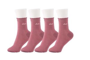 Bamboo Women Ankle Socks with Logo(4 Pairs)