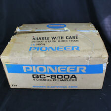 BOX & STYROFOAM ONLY Original Pioneer QC-800A 4-Channel Preamplifier Preamp