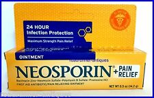 Neosporin & Pain Relief Bacitracin Neomycin Frist Aid Antibiotic Ointment  .5 oz