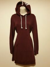 Lovely ABERCROMBIE & FITCH Women Plum Long Hoodie Dress Size S