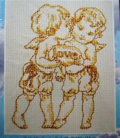 "Janlynn Words of God LOVE AIMER Counted Cross Stitch Kit 5"" x 7"" #063-0107"