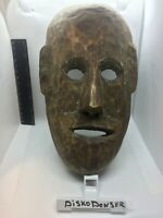 Original Antique Wooden Tribal Mask Old Hard Wood Fine