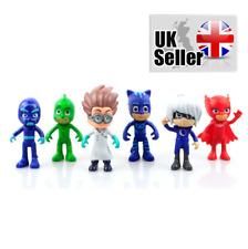 6pcs PJ Masks Catboy Owlette Gekko Cloak Action Figures Kids Toy Set PVC 8-9cm s