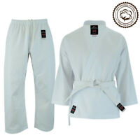 Malino 8oz Lightweight White Karate Suit Gi Free White Belt Children Men Uniform
