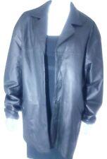Womens Fashion Elements Leather Coat Black Leather Jacket XL