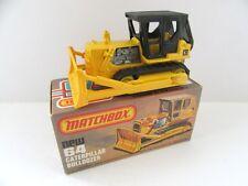 Matchbox Superfast 64d Caterpillar D9 Bulldozer - Black Canopy - Mint/Boxed