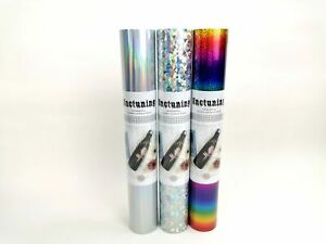 SNC 1ftx5ft High Quality Vinyl Sticker Adhesive Roll Holographic CHOOSE COLOR