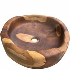 Lavandino da appoggio teak naturale lavandini a ciotola in legno lavabo Bantul