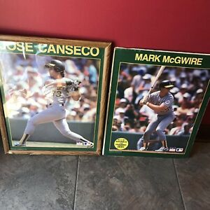 MARK MCGWIRE & JOSE CANSECO OAKLAND A'S 1988 STARLINE POSTERS 16x20